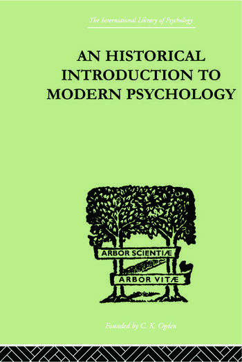 An Historical Introduction To Modern Psychology book cover