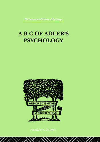 A B C Of Adler'S Psychology book cover
