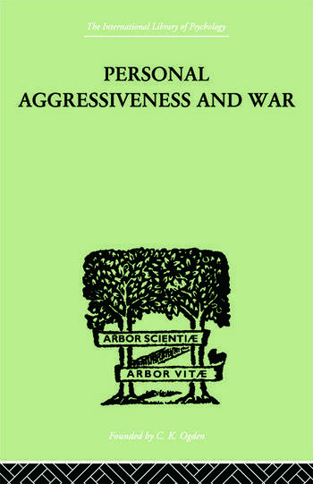 Personal Aggressiveness and War book cover