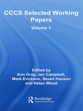 CCCS Selected Working Papers Volume 1 book cover