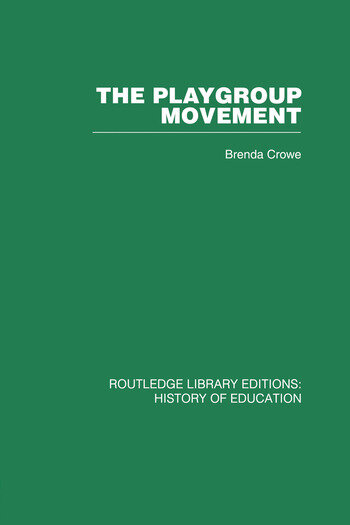 The Playgroup Movement book cover