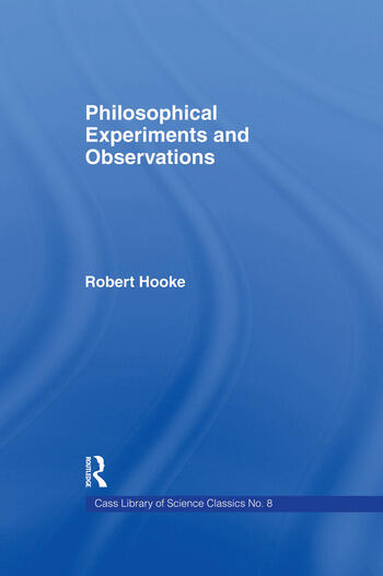 Philosophical Experiments and Observations book cover
