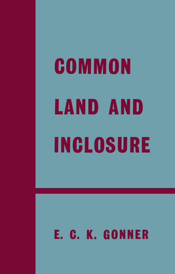 Common Land and Enclosure book cover