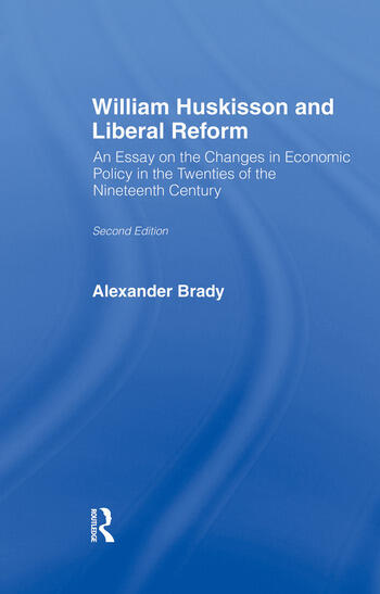 William Huskisson and Liberal Reform book cover
