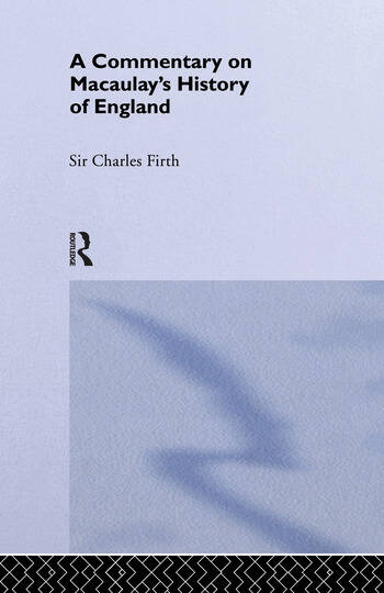 Commentary on Macaulay's History of England book cover