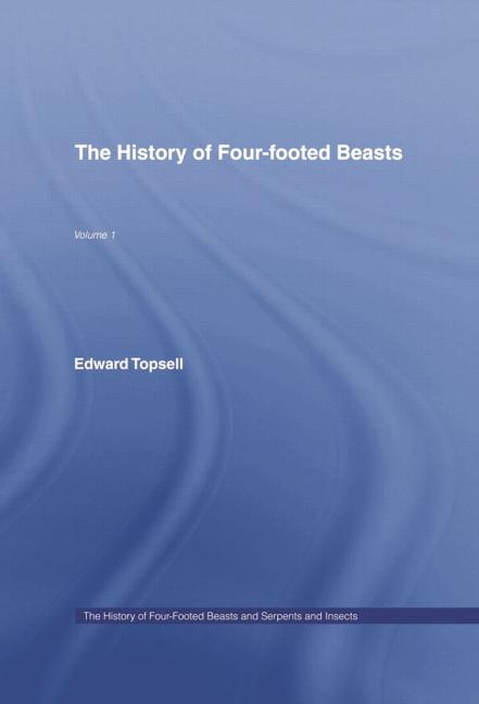 History of Four Footed Beasts book cover
