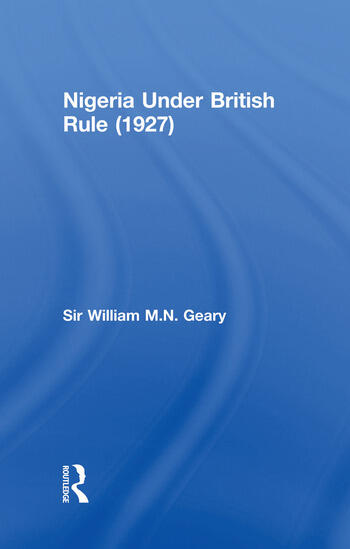 Nigeria Under British Rule (1927) book cover