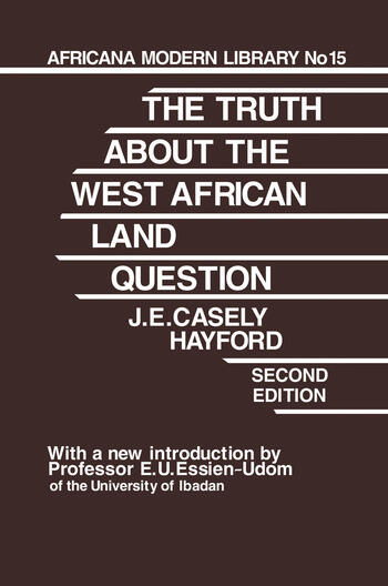 Truth About the West African Land Question book cover