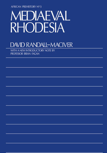 Medieval Rhodesia book cover