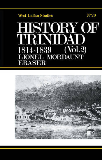 History of Trinidad from 1781-1839 and 1891-1896 book cover