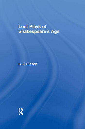 Lost Plays of Shakespeare S a Cb Lost Plays Shakespeare book cover