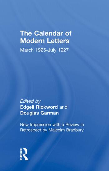 Calendar Modern Letts 4v Cb Cal of Modern Letters book cover