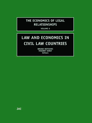 Law and Economics in Civil Law Countries book cover