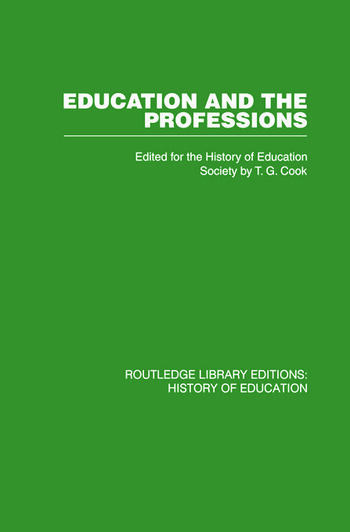 Education and the Professions book cover