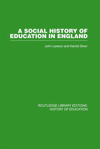A Social History of Education in England book cover