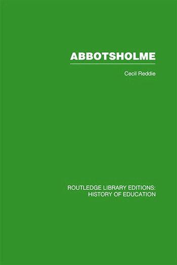 Abbotsholme 1889-1899 book cover