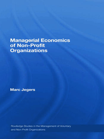 Managerial Economics of Non-Profit Organizations book cover