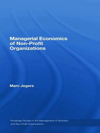 Managerial Economics of Non-Profit Organizations book cover