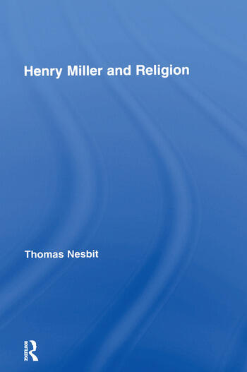 Henry Miller and Religion book cover