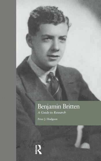 Benjamin Britten A Guide to Research book cover