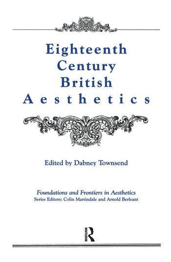 Eighteenth-Century British Aesthetics book cover
