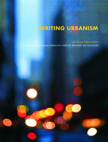 Writing Urbanism A Design Reader book cover