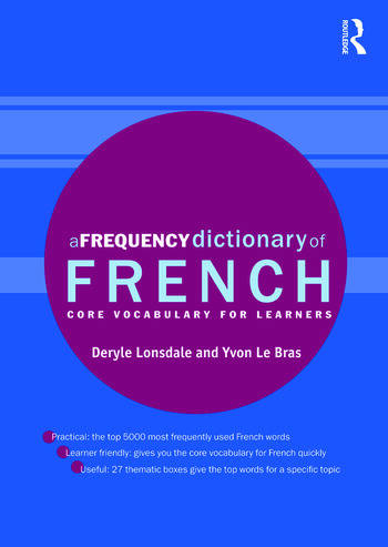 A Frequency Dictionary of French Core Vocabulary for Learners book cover