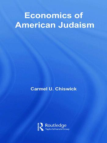 Economics of American Judaism book cover