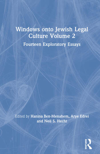 Windows onto Jewish Legal Culture Volume 2 Fourteen Exploratory Essays book cover