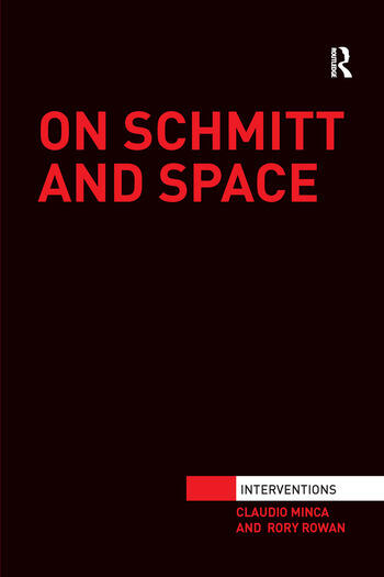 On Schmitt and Space book cover