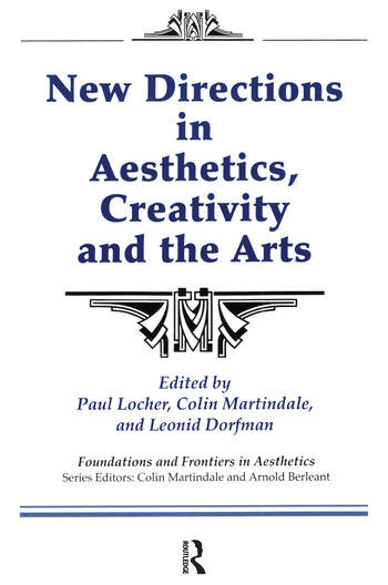 New Directions in Aesthetics, Creativity and the Arts book cover