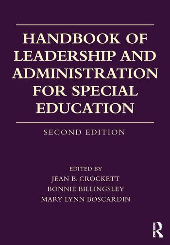 Handbook of Leadership and Administration for Special Education book cover