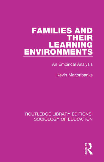 Families and their Learning Environments An Empirical Analysis book cover