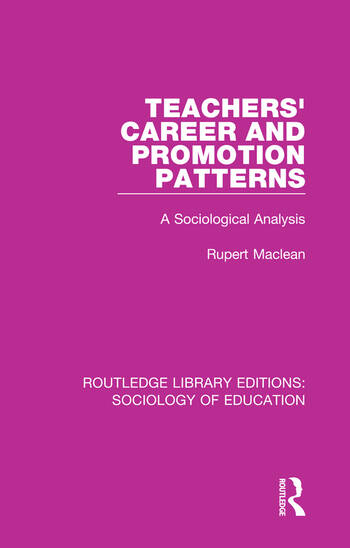 Teachers' Career and Promotion Patterns A Sociological Analysis book cover