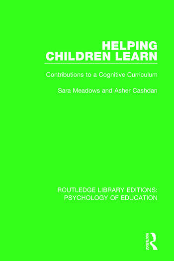 Helping Children Learn Contributions to a Cognitive Curriculum book cover
