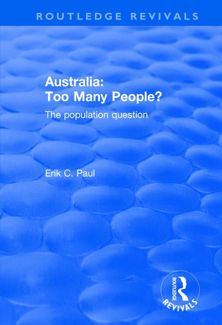 Australia: Too Many People? The Population Question book cover