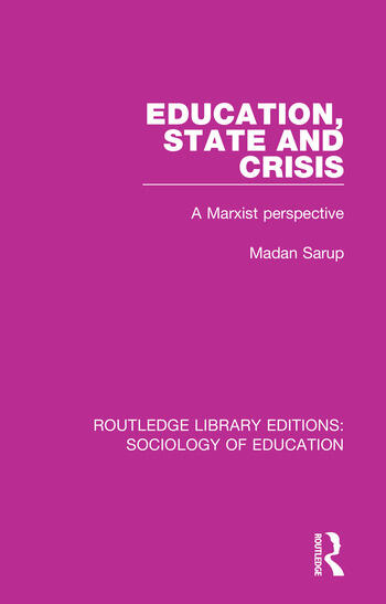 Education State and Crisis A Marxist Perspective book cover