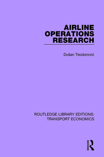 Airline Operations Research book cover
