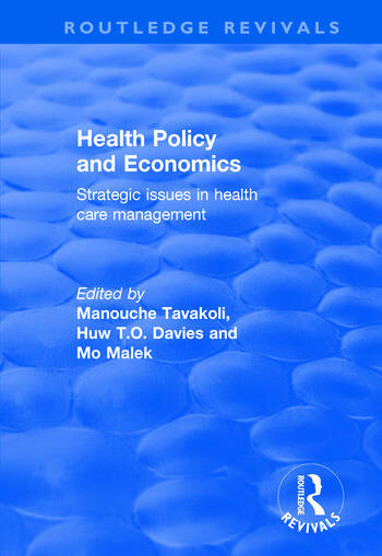 Health Policy and Economics Strategic Issues in Health Care Management book cover