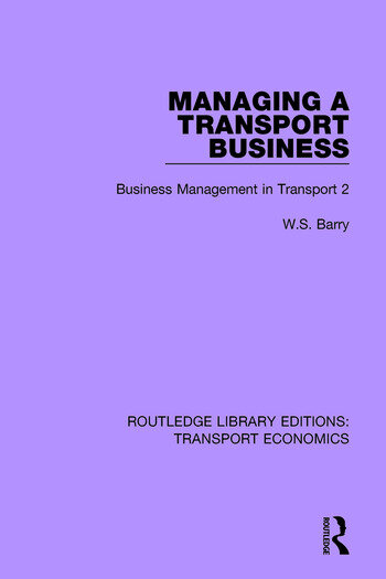 Managing a Transport Business Business Management in Transport 2 book cover