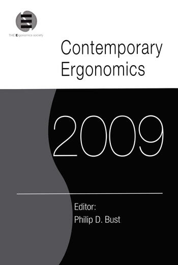 Contemporary Ergonomics 2009 Proceedings of the International Conference on Contemporary Ergonomics 2009 book cover