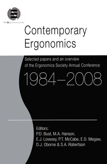 Contemporary Ergonomics 1984-2008 Selected papers and an overview of the Ergonomics Society Annual Conference book cover