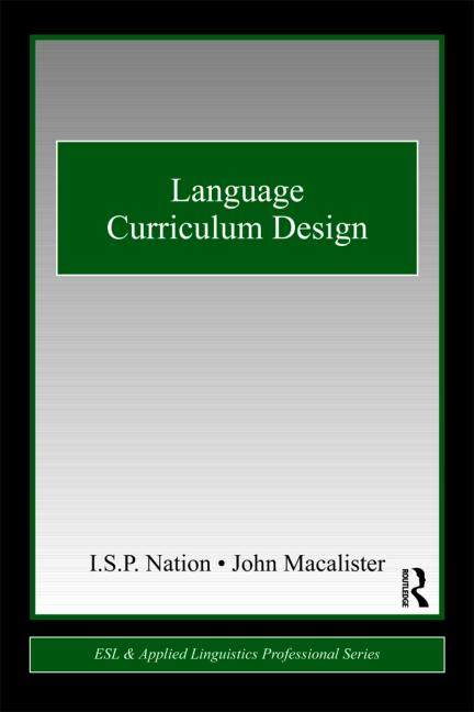 Language Curriculum Design book cover