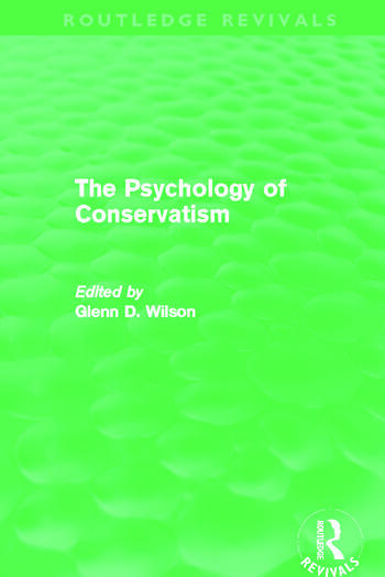 The Psychology of Conservatism (Routledge Revivals) book cover