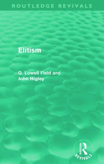 Elitism (Routledge Revivals) book cover