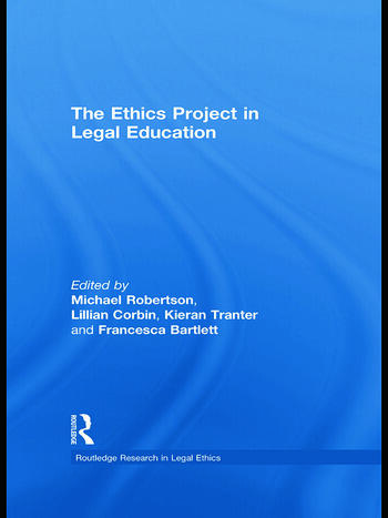 The Ethics Project in Legal Education book cover