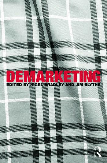 Demarketing book cover