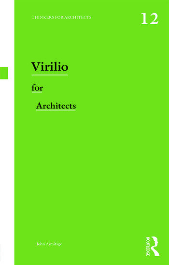 Virilio for Architects book cover