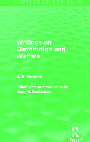 Writings on Distribution and Welfare (Routledge Revivals) book cover