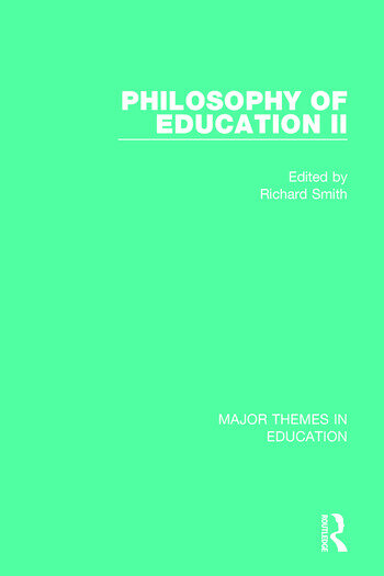 Philosophy of Education II book cover